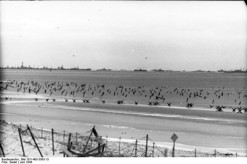 Defensas alemanas en las playas de Normandía