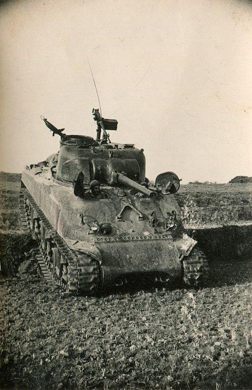 Tanque Sherman francés en la Guerra de Indochina