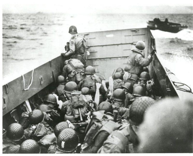 Foto de tropas norteamericanas en Omaha