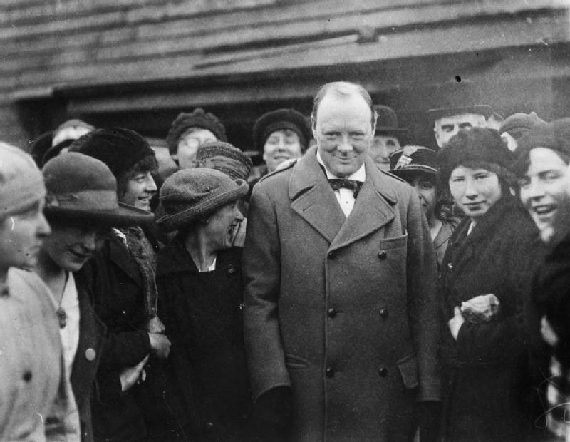 Imagen de Winston Churchill en 1918