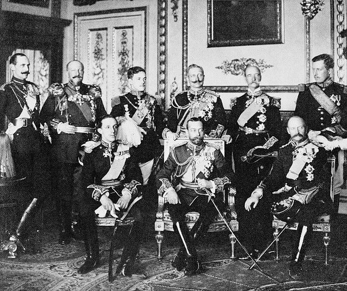 Fotografía de los reyes en el funeral de Eduardo VII