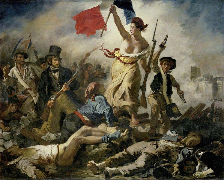 Cuadro de Delacroix: La libertad guiando al pueblo