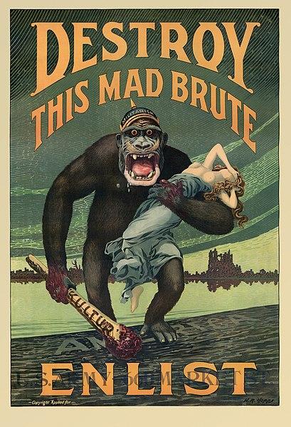 Cartel de propaganda antialemana