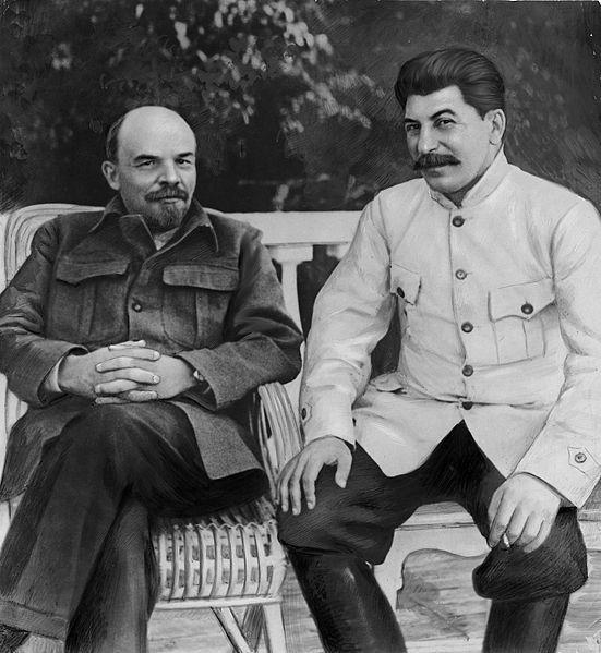 Lenin y Stalin en 1922