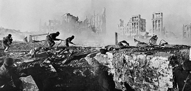 Imagen de Stalingrado durante la batalla