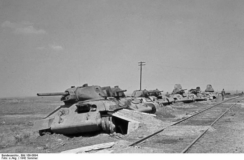 Tanques T-34 rusos