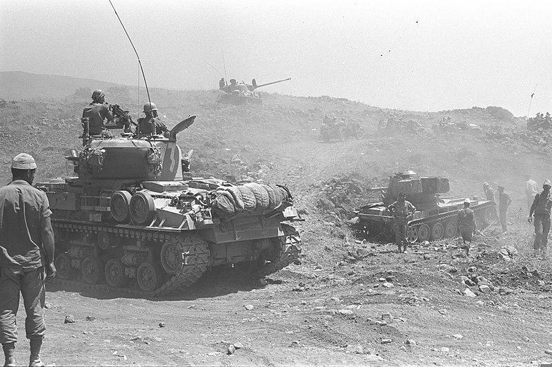 Tanques israelíes en la Guerra de los Seis Días
