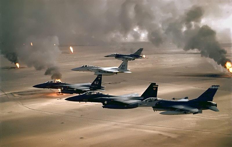 Cazas norteamericanos en la Operación Tormenta del Desierto. Guerra del Golfo. 1991.