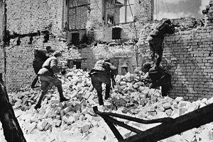 Imagen de la lucha en Stalingrado