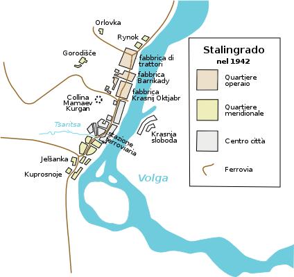 Mapa de la ciudad de Stalingrado