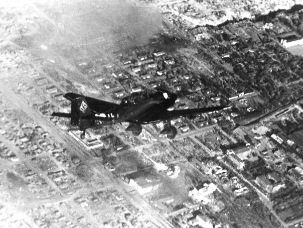 Avión Stuka sobre Stalingrado