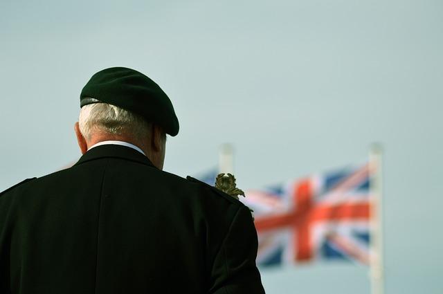Veterano de guerra en la conmemoración del Día D