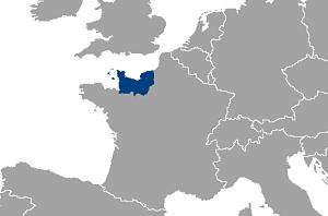 Mapa región de Normandía en la actualidad
