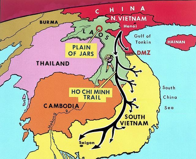 Mapa de la guerra de Vietnam