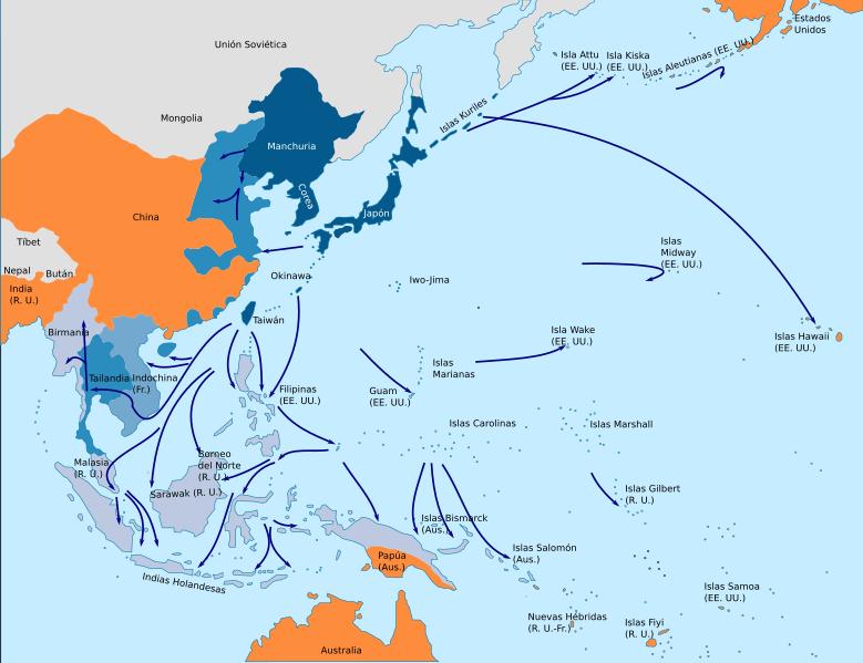 Expasión de Japón por el Pacífico en la Segunda Guerra Mundial
