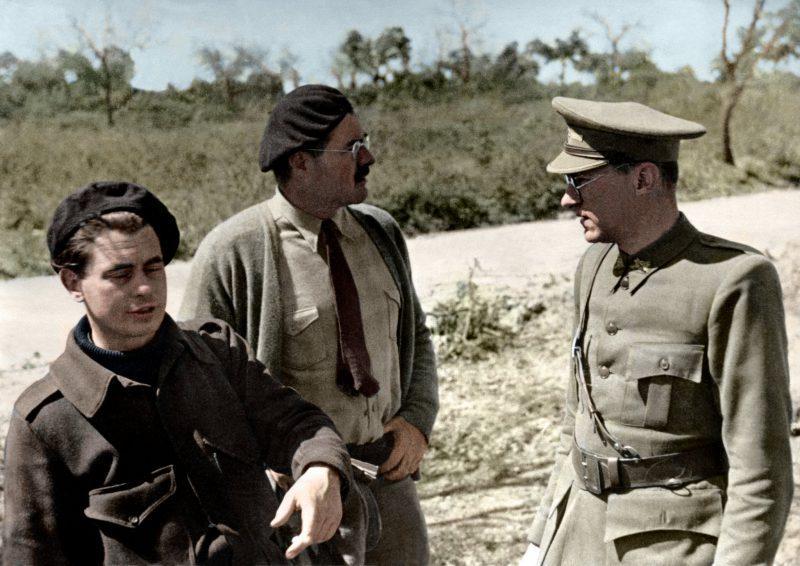 Joris Ivens, Ernest Hemingway y Ludwig Renn en la Guerra Civil Española