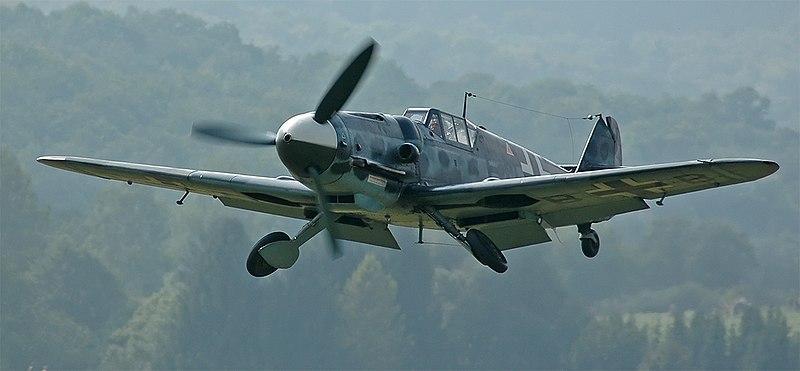 Avión Messerschmitt Bf 109 en la guerra civil española