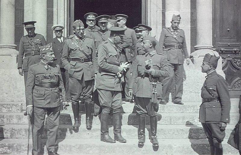 Franco y sus generales en la Guerra Civil Española