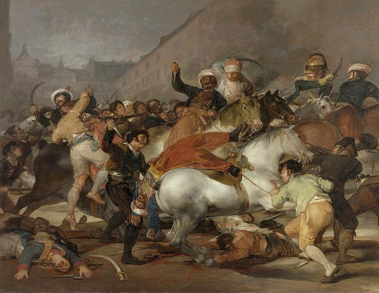 El 2 de Mayo en Madrid o la carga de los mamelucos. Franciso de Goya.