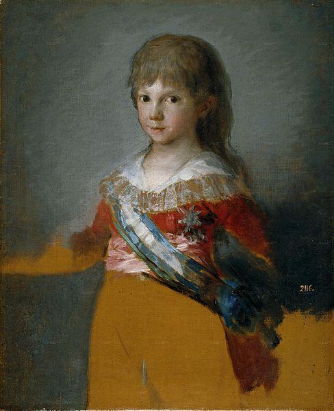 El infante Francisco de Paula. Cuadro de Francisco de Goya. 2 de Mayo
