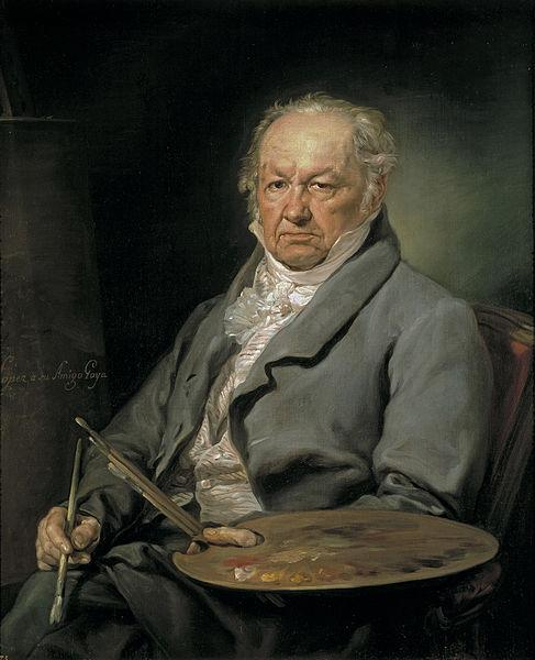 Francisco de Goya y Lucientes (1746-1828). Retrato de Vicente López Portaña