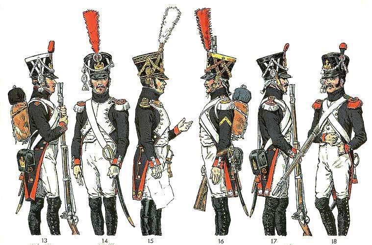 Infanteria francesa de Napoleon en 1808
