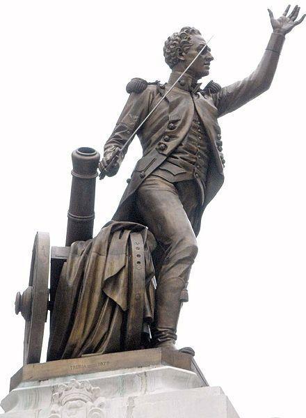 Monumento a Pedro Velarde el 2 de mayo de 1808