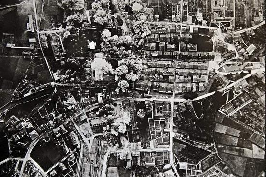Imagen del bombardeo de Durango en la Guerra Civil