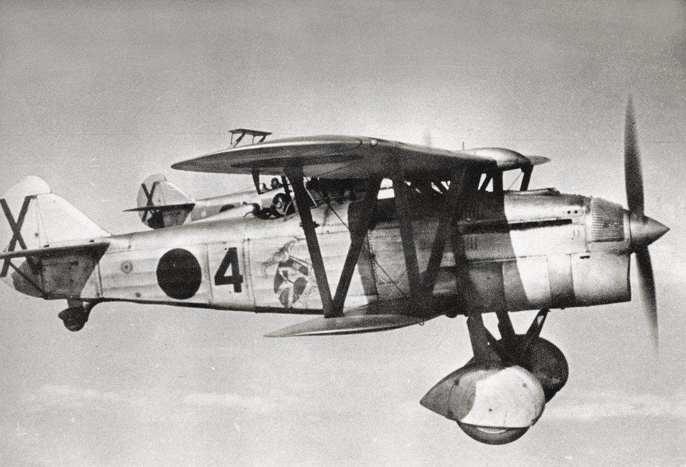 Caza italiano Fiat C.R.32 en la Guerra Civil española
