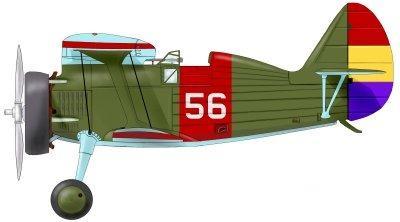 "Avión republicano I-15 Polikarpov ""Chato"""