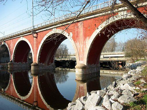 Imagen del Puente de los Franceses en Madrid