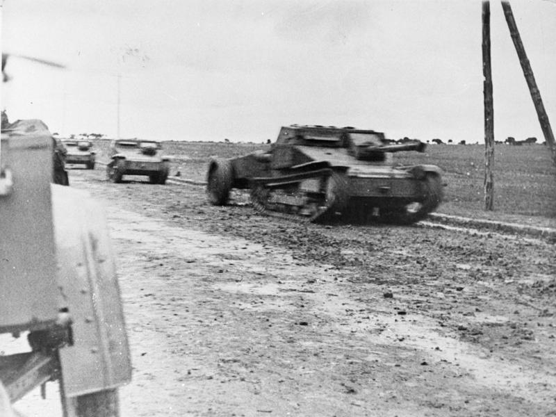 Tanques italianos en la batalla de Guadalajara, 1937