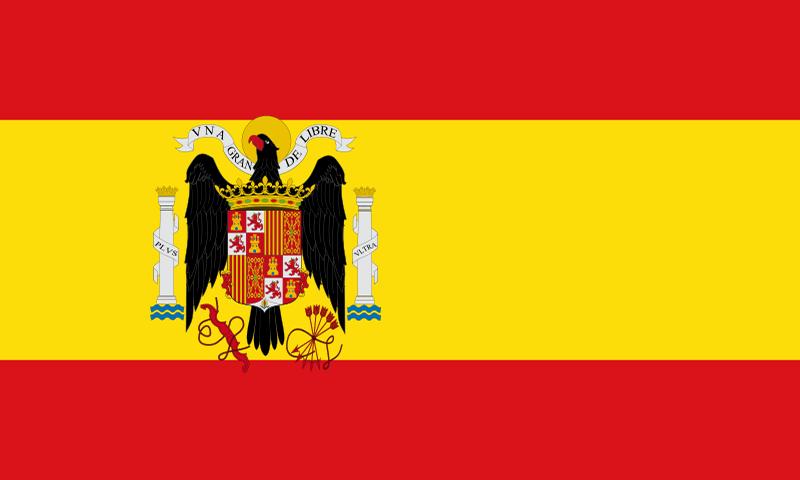 Bandera del bando sublevado en la Guerra Civil