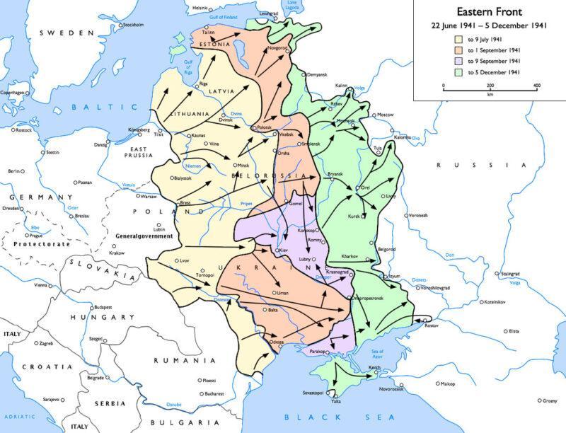 Frente oriental de la Segunda Guerra Mundial en 1941