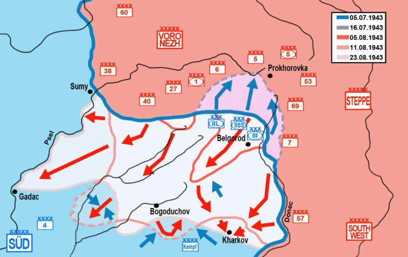 Mapa de la Operación Rumyantsev