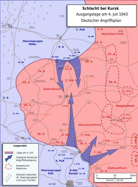 Plan de ataque alemán de la Operación Ciudadela