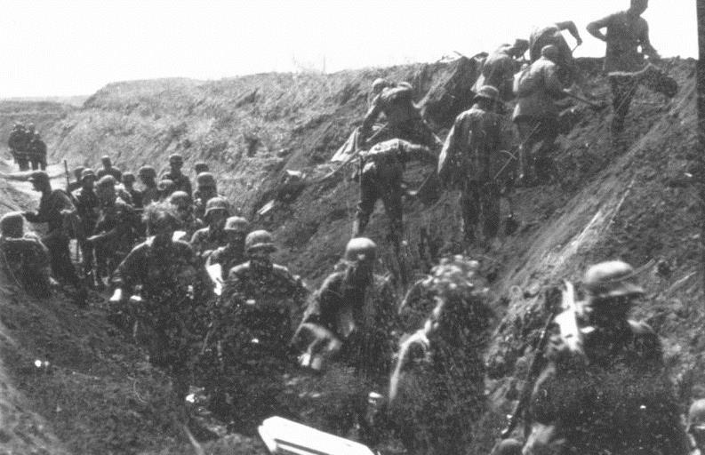 Soldados alemanes durante la Operación Ciudadela