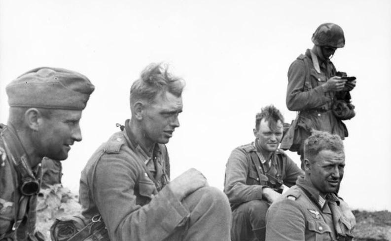 Soldados alemanes en la batalla de Kursk