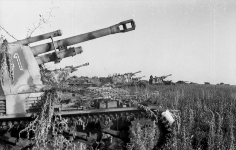 Artillería alemana autopropulsada en Kursk