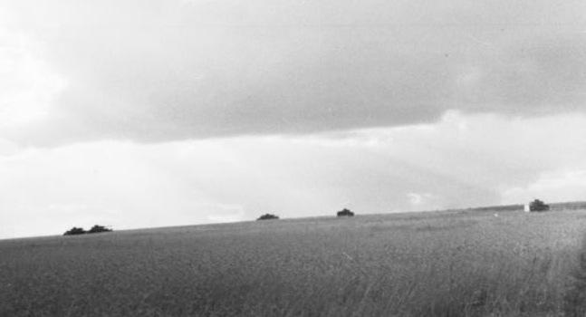 Imagen del campo de batalla de Kursk